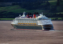 Scotland Greenock the cruise ship Disney Magic leaving port after sunset 6 September 2018 by Anne MacKay (Anne MacKay images of interest & wonder) Tags: scotland greenock sea cruise ship disney magic evening 6 september 2018 picture by anne mackay
