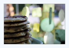 masquerade (overthemoon) Tags: utata ip utata:project=ip269 ironphotographer pancakes pile stack green backlit shells food baking notpikelets
