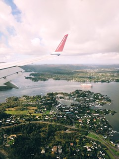 A quick glance from the sky. Approaching Bergen airport