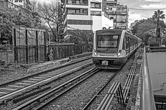 Tren M26 (Wal Wsg) Tags: train tren trenes trenesargentinos trenpublico trains ferrocarril ferrocarrilargentino argentina buenosaires caba capitalfederal ciudaddebuenosaires palermo byn bw blackandwhite blancoynegro canoneosrebelt6i canon phwalwsg photography photo foto fotografia fotocallejera dia day