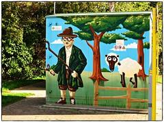 Der Schäfer und sein Schaf (rasafo66) Tags: duisburg graffiti martendalimont streetart deutschland nrw nordrheinwestfalen germany kunst canonsx260