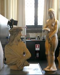 Jesus & Eve (edenpictures) Tags: venice venezia italy italia dogespalace palazzoducale statues sculpture restoration eve