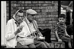 Monochrome street photography (jamiekennedy644) Tags: monochrome streetphotography old kids icecream canon6d lseries