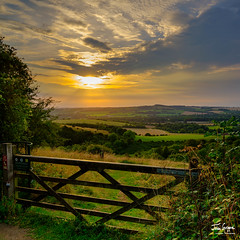 JHG_GFX50s-9937.jpg (Julian Gazzard) Tags: grass hike landscape calm peaceful nature dawn quiet hill colour summer downs outdoors gate country footpath station fence wood view tranquil tree trek sunset color dramatic pastel pastoral evening south rural weather viewpoint light english sun scene national beacon noperson travel cropland old hampshire fairweather park winchester countryside sky walk