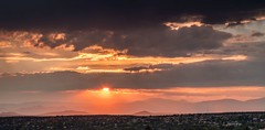 Sunset over Santa Fe (LarryJH) Tags: sunset santafe newmexico sunrise sky city sictyscape mountains