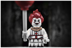 Pennywise (Silverio Photography) Tags: lego minifig it horror custom canon 60d 24mm pancake primelens toy topaz