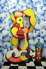 Moça na Chuva (Teixeira Leite) Tags: artemoderna artebrasileira modernart teixeiraleite figurativa colorido mulher mulhercarioca