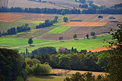 summer moods (JoannaRB2009) Tags: summer mood nature landscape view path road tree trees farm buildings architecture fields green hesse hessen germany deutschland