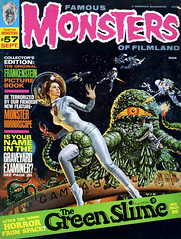 Famous Monsters #57 (1969), cover by Vic Livoti (gameraboy) Tags: famousmonsters 57 1969 cover viclivoti greenslime art painting illustration magazinecover magazine 1960s