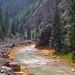 Yellow Rocks from Iron Deposits, Animas Canyon, Durango & Silverton Narrow Gauge Railroad