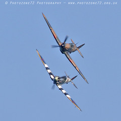 2982 LF363 AB910 Andy P (photozone72) Tags: bournemouth airshows aircraft airshow aviation canon canon7dmk2 canon100400f4556lii 7dmk2 bbmf raf warbirds wwii rafbbmf hurricane lf363 spitfire ab910