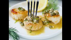 PAN SEARED SCALLOPS with LEMON CAPER SAUCE is an elegant yet easy dish (masinud) Tags: pan seared scallops with lemon caper sauce is an elegant yet easy dish