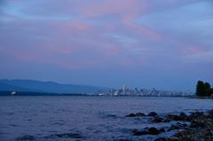 Under scarlet skies (afagen) Tags: vancouver britishcolumbia bc canada acadiabeach beach burrardinlet sunset skyline