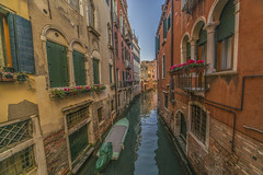Venice canal (y.mihov, Big Thanks for more than a million views) Tags: venice venezia canal italy isle islands historical architecture sonyalpha sightseeing sigma skyes sea street stone flowers water winter wide wealth window trespass travel tourist town