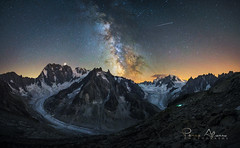 The greatest show (Perez Alonso Photography) Tags: milkyway refuge hut snow ice glacier merdeglace mountains range montblanc landscpae landscapes night nightscapes star stars universe galaxy