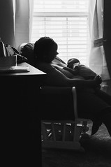 Just A Week, Can't Leave Him Alone (MastaPeaceXSDB) Tags: mother infant intimacy motherhood baby motherandson blackandwhite bw soothing