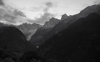 la montagna di Bregaglia