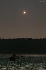 At Clear Lake, Oregon (Masako Metz) Tags: clearlake sisters oregon pacific northwest usa nature water boat sun light hazy