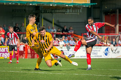 Altrincham FC vs Boston United - August 2018-146 (MichaelRipleyPhotography) Tags: altrincham altrinchamfc altrinchamfootballclub alty ball bostonunited community fans football footy goal header jdavidsonstadium kick mosslane nationalleaguenorth nonleague pass pitch preseason referee robins salfordcity save score semiprofessional shot soccer stadium supporters tackle team vanarama