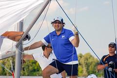 KRYC CUP 2014-4366 (amprophoto) Tags: sail sailing sailingyacht sailboat yachtrace regatta water wind white blue beneteau platu25 peoples sky sport spinnaker fun smile