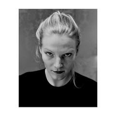 ... (jcois.) Tags: pentax portrait streetportrait street regard blackwhite bw noirblanc monochrome people personnes jcois rouen photography streetphotographer woman