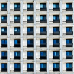 living in a box (javan123) Tags: square architecture blue box geometric reflection fujifilm