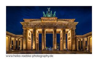 Brandenburger Tor bei Nacht / at night