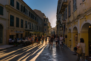 Long shadows in Kerkyra