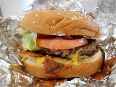 FIVE GUYS - Burgers and Fries (Jeannette Greaves) Tags: fiveguys burgersandfries mayo lettuce pickles tomato grilledonion grilledonions ketchup mustard baconcheeseburger frenchfriesfiveguystyle cherrymilkshake
