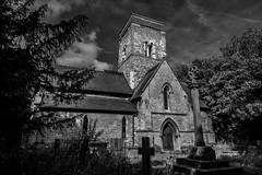 St Martin's Church, Waithe (simononeill1971) Tags: church churchyard monochrome black white bw blackandwhite sky clouds yard landscape nature gateway religion parish lincolnshire