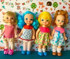 Ready to Play (Retro Mama69) Tags: vintage dolls rebodied hobbie holy remco 1969 skater ice sally ballerina betty ding finger terri tiny inc co toy my