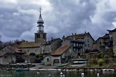 Yvoire (David Bertholle) Tags: yvoire léman lac lake france village town french church église ngc d7200 clouds