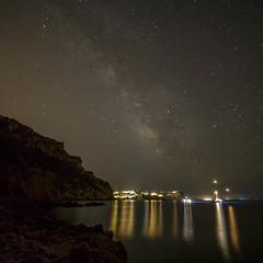 Milky-way in Mallorca (Heli Hansen) Tags: milkyway stars nightphotography nightsky beach mallorca spain waterscape ocean mediterranean canon5dmarkiii samyang14mm
