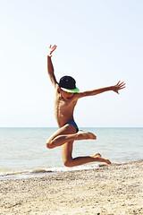 Jump! (julia.doroshkevich) Tags: jump boy sea beach