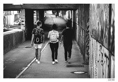 Three friends (Aljaž Anžič Tuna) Tags: friends walking street streetphotography ljubljana underpass photo365 project365 people onephotoaday onceaday 365 35mm 365challenge 365project nikond800 nikkor nice naturallight nikon nikon105mmf28 105mmf28 f28 d800 dailyphoto day bw blackandwhite black white blackwhite beautiful