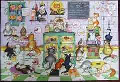 Life is Sweet (Linda Jane Smith) (Leonisha) Tags: puzzle crazycats lindajanesmith cats comical katzen comic