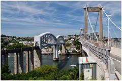 Tamar Crossings (GIIBRG) Tags: royalalbertbridge railwaybridge saltashbridge tamarbridge rivertamar devon cornwall isembardkingdombrunel brunel theunioninn saltash plymouth