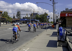 31 police riders leave lunch stop (Tony Tomlin) Tags: whiterockbc britishcolumbia canada copsforcancer charityride police