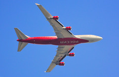 EI-XLI (M McBey) Tags: boeing 747 747400 planform airliner jumbo jet landing red rossia russian kreuger flaps wing