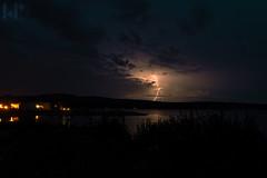Lightningstrike behind Novalja (rungegraphy) Tags: lightning thunder storm strike lightningstrike croatia kustici novalja travel canon 80d landscape night