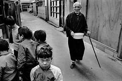 A city 605 (soyokazeojisan) Tags: japan osaka city bw street people blackandwhite monochrome analog olympus m1 om1 28mm film trix kodak memories 1970s 1975