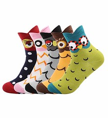 Cute Owl Design Cotton Socks (mywowstuff) Tags: gifts gift ideas gadgets geeky products men women family home office