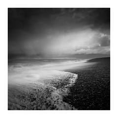 Dungeness - February 4th (Edd Allen) Tags: eastbourne seafront seaside beach sea light nikon d810 nikond810 atmosphere atmospheric serene bucolic seascape southcoast southeast uk england zeiss distagon 18mm dungeness blackandwhite bw storm clouds waves