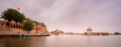 Lake of the Red Flag (ajecaldwell11) Tags: ankh buildings caldwell clouds fujifilm india jaisalmer lake light longexposure xe3