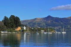 Akaroa Harbour (Steve Attwood) Tags: auldwoodphotography steveattwood newzealand canterbury bankspeninsula landscape sea ocean harbour coast yacht akaroa akaroaharbour