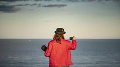 photographing the photographer (HHH Honey) Tags: minimoonixx devon brixham seaside sea sonyα7ii minolta100200mm minolta berryhead photographer seascape camera