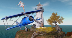 Wingwalker (KittyBlue Rae) Tags: secondlife sunshine solo flying plane mystictimbers