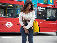 Oxford Street. 20180820T14-31-24Z (fitzrovialitter) Tags: girl candid portrait streetportrait peterfoster fitzrovialitter city camden westminster streets rubbish litter dumping flytipping trash garbage urban street environment london fitzrovia streetphotography documentary authenticstreet reportage photojournalism editorial captureone olympusem1markii mzuiko 1240mmpro microfourthirds mft m43 μ43 μft geotagged oitrack exiftool linearresponse red bus
