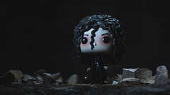 Staring into the Abyss (3rd-Rate Photography) Tags: bellatrixlestrange harrypotter funko funkopop witch wand deatheater toyphotography canon 50mm 5dmarkiii jacksonville florida 3rdratephotography earlware 365 toy slytherin