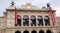 Vienna Opera House (1 of 3) (jimsawthat) Tags: vienna austria urban operahouse flag architecture architecturaldetails statues